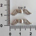 Kovová křídla, různé druhy
