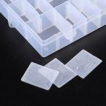 Box na korálky 24 mléčná plast