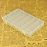 Box na korálky 36 mléčný plast