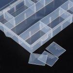 Box na korálky 13, mléčný plast