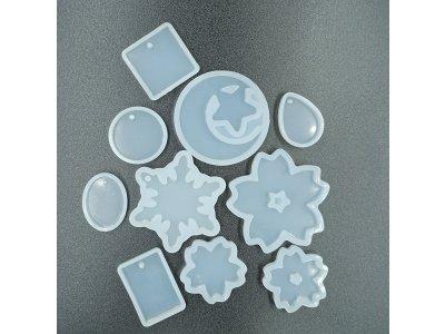 Silikonová forma jednodruhová, více tvarů