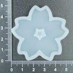 Silikonová forma jednodruhová, více tvarů - kytička se středem, velká