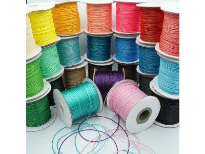 Voskovaná šňůra (polyester) 1 mm, více barev