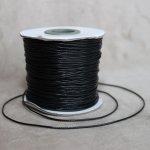 Voskovaná šňůra (polyester) 1 mm, více barev - černá