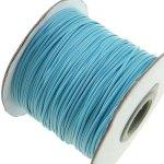 Voskovaná šňůra (polyester) 1 mm, více barev - světle modrá