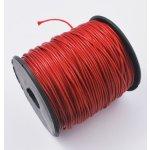 Voskovaná šňůra (polyester) 1 mm, více barev - červená
