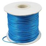 Voskovaná šňůra (polyester) 1 mm, více barev - středně modrá