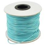Voskovaná šňůra (polyester) 1 mm, více barev - modrý tyrkys
