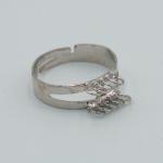 Prsten s očky - platinová, 10 oček