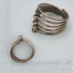 Prsten s očky - bronzová, 5 oček