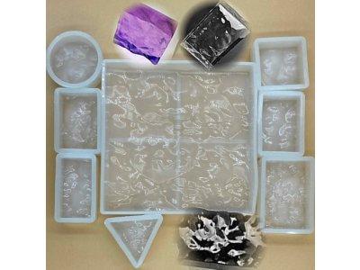 Silikonové formy s texturou různé tvary