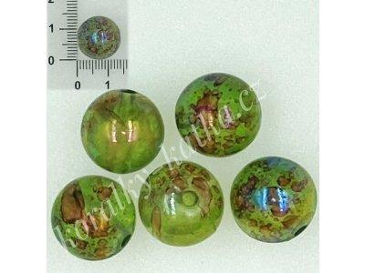 Zelené s AB efektem 14 mm